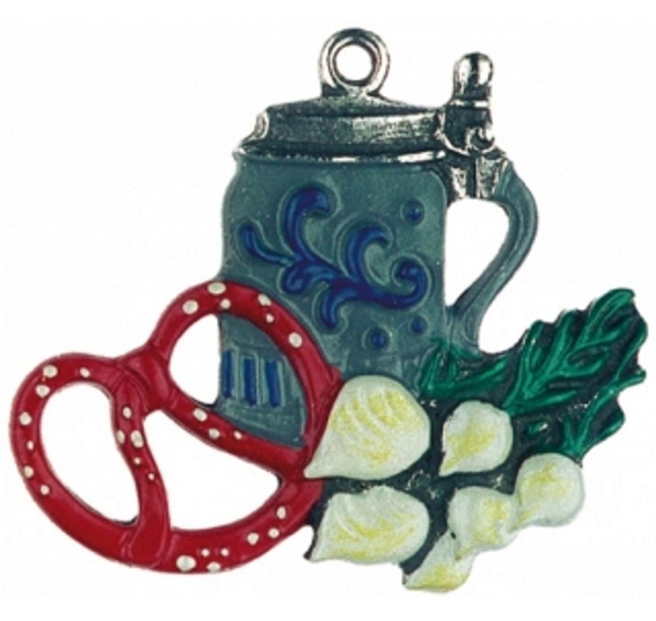 Bavarian Snack German Pewter Christmas Ornament