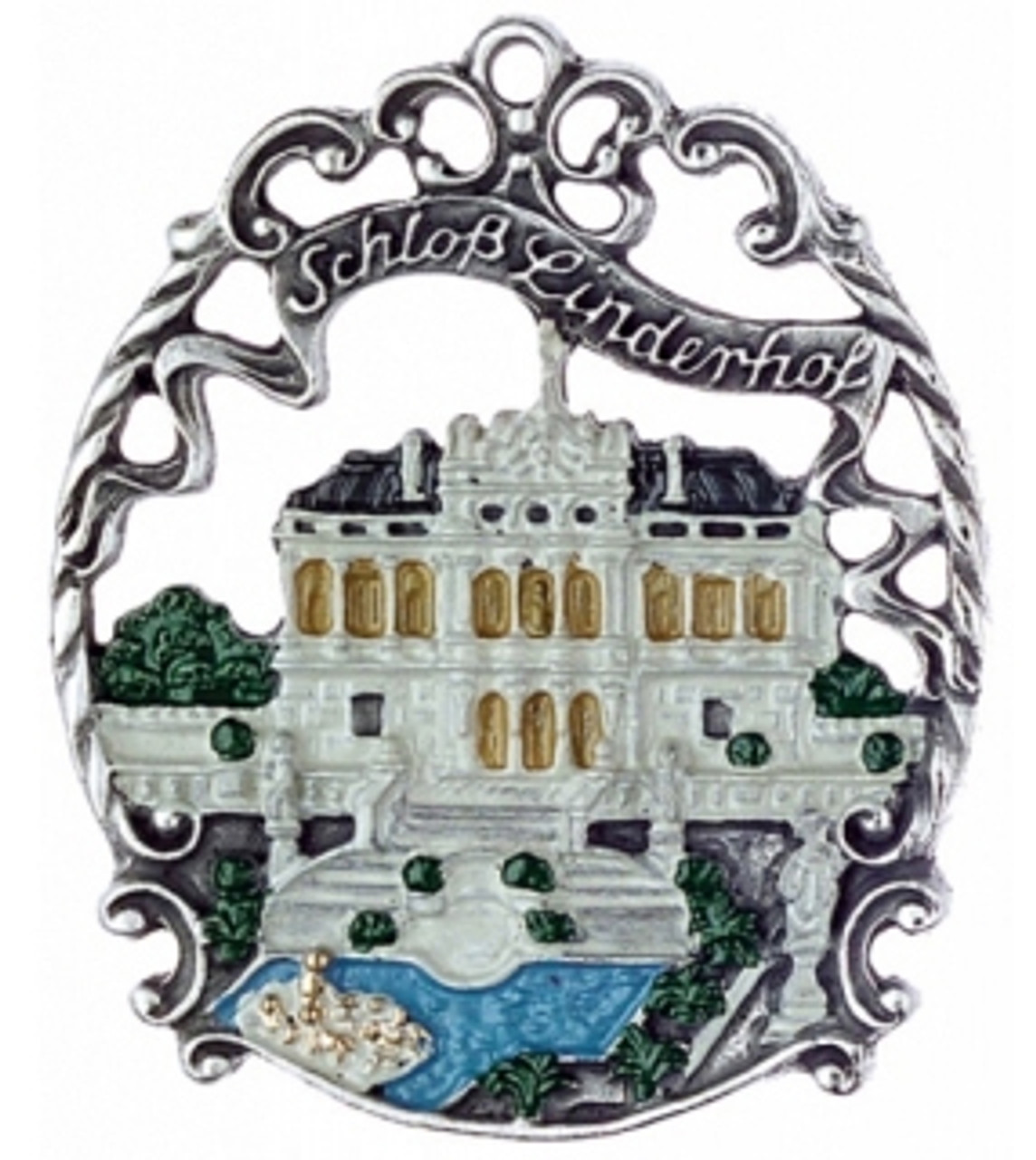 Traditional German Pewter Xmas Ornament Linderhof Castle