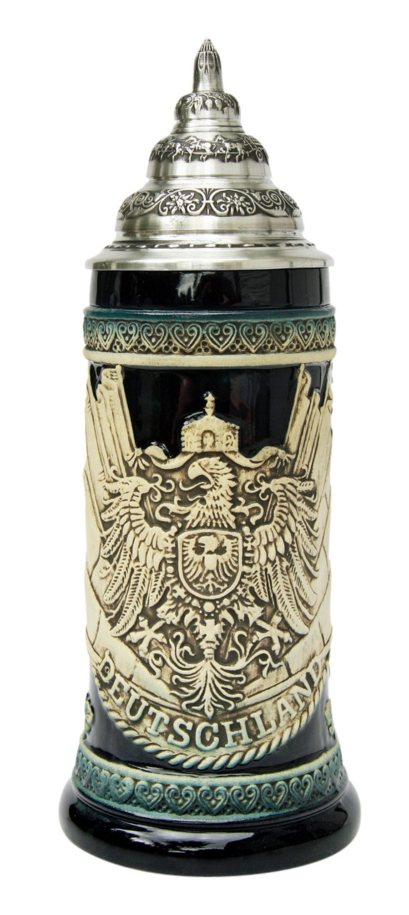 Deutschland Eagle and Flags Beer Stein Cobalt