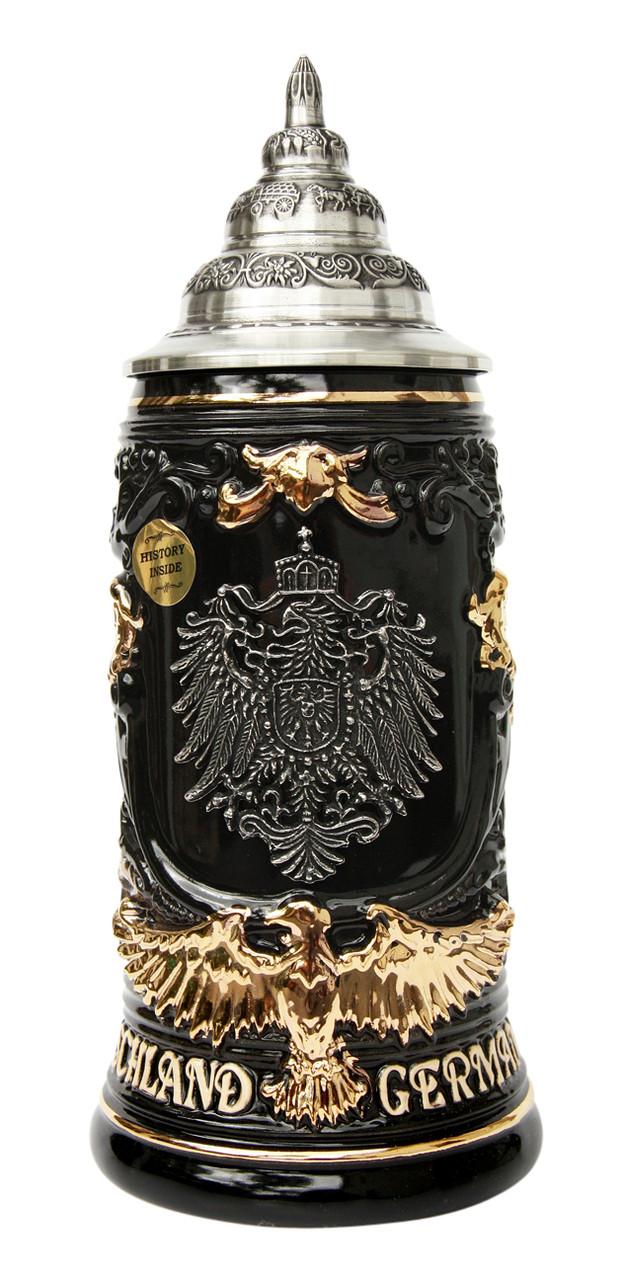 Deutschland Germany Eagle Handle Beer Stein
