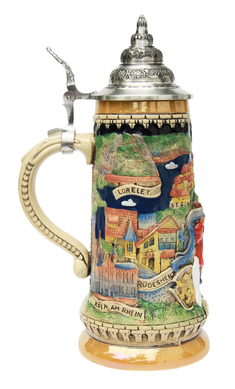 Rhein River Panorama Beer Stein
