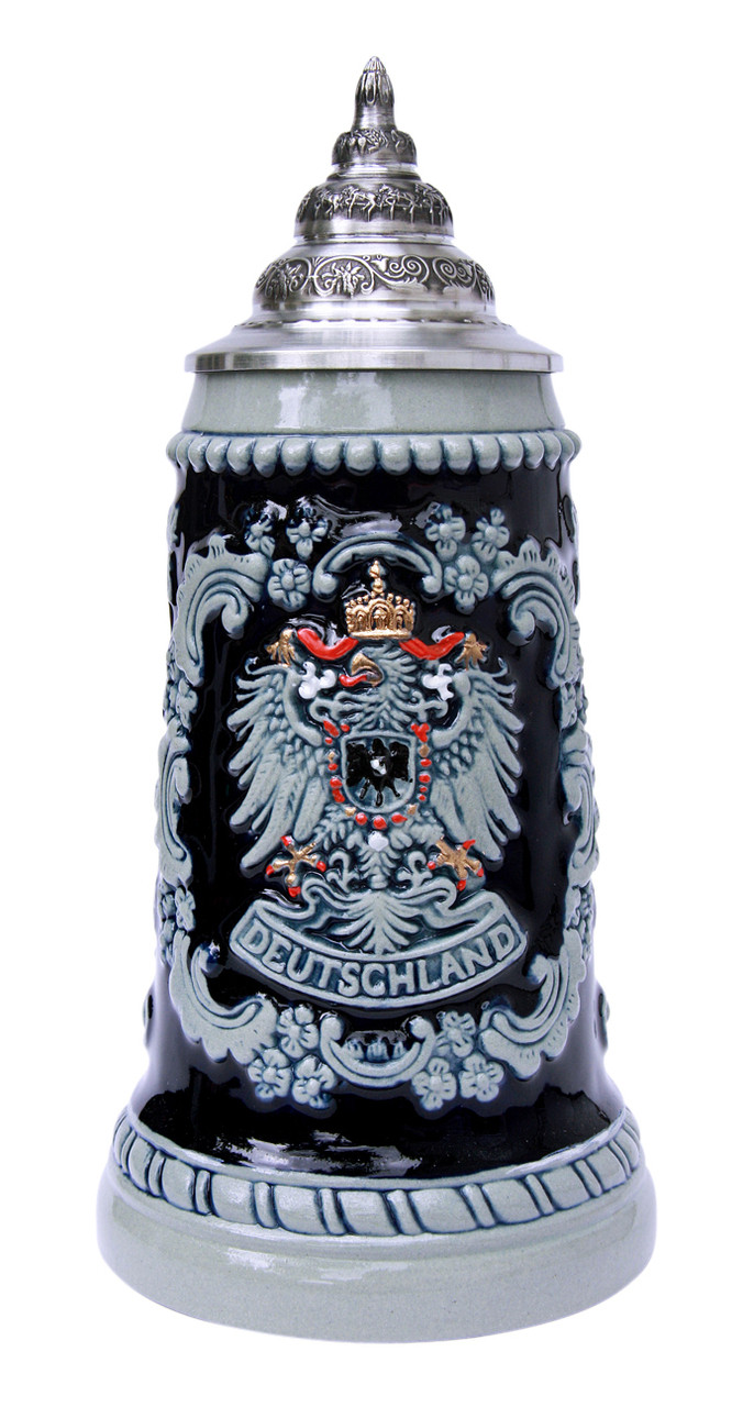 Deutschland Eagle Cobalt Blue Beer Stein