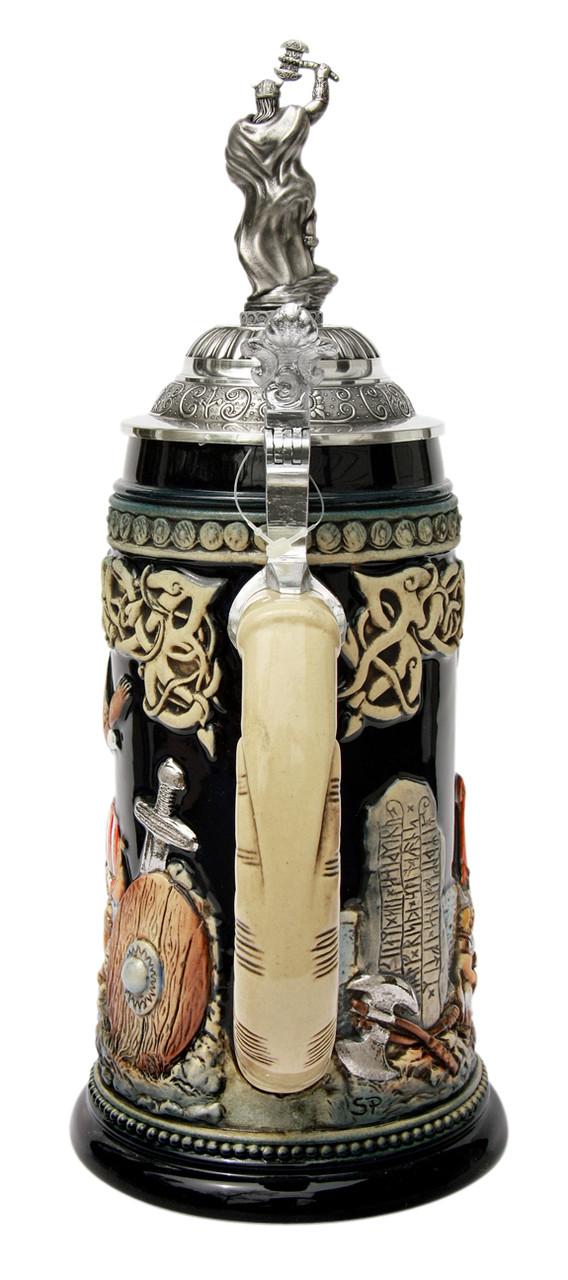 Leif Erikssen Viking Beer Stein with Viking Lid