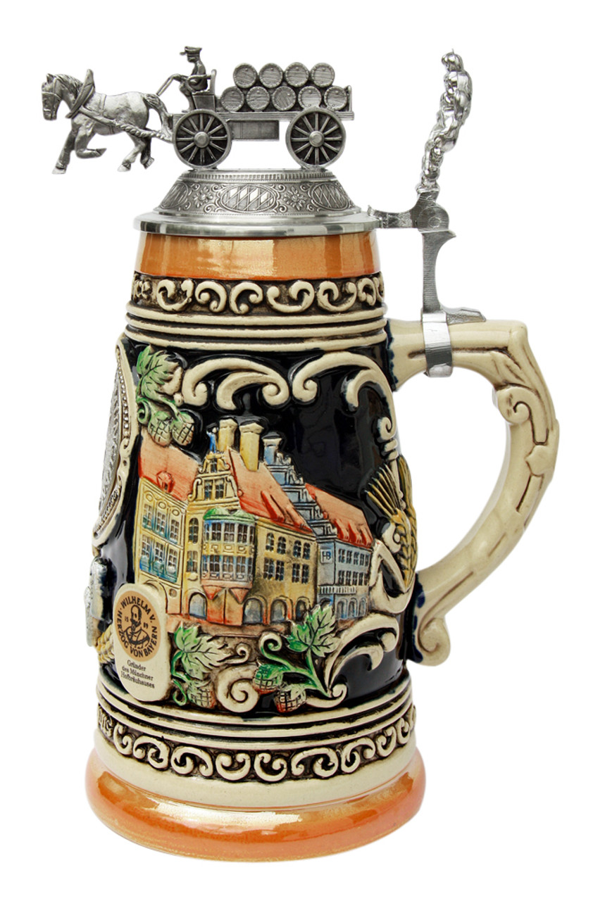 Rare authentic beer stein with lid