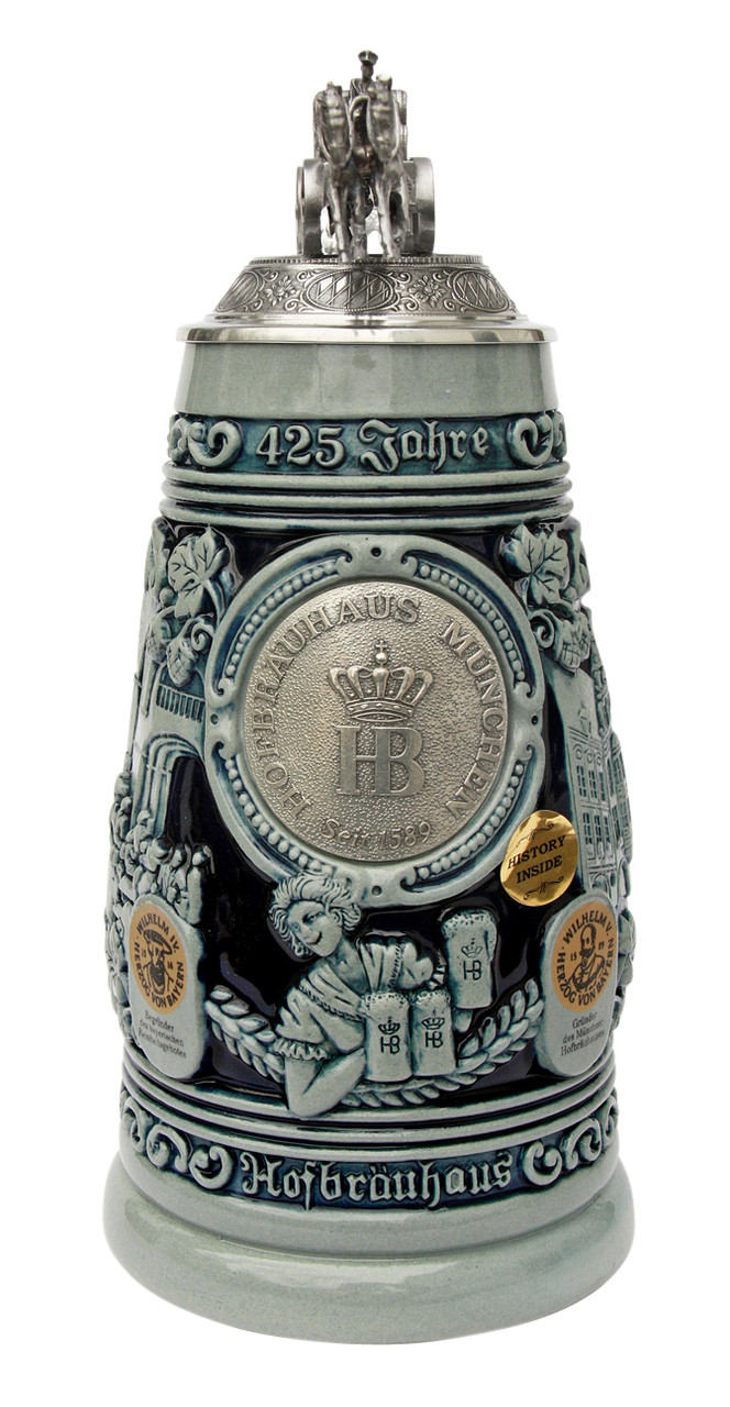 Hofbrauhaus commemorative 1 liter beer stein