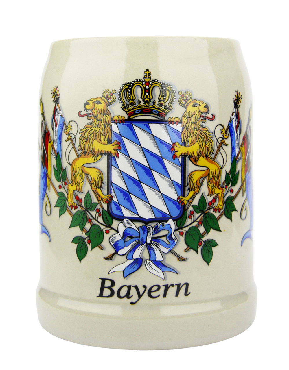 Bavaria Crest German Stoneware Beer Mug 0.5 Liter