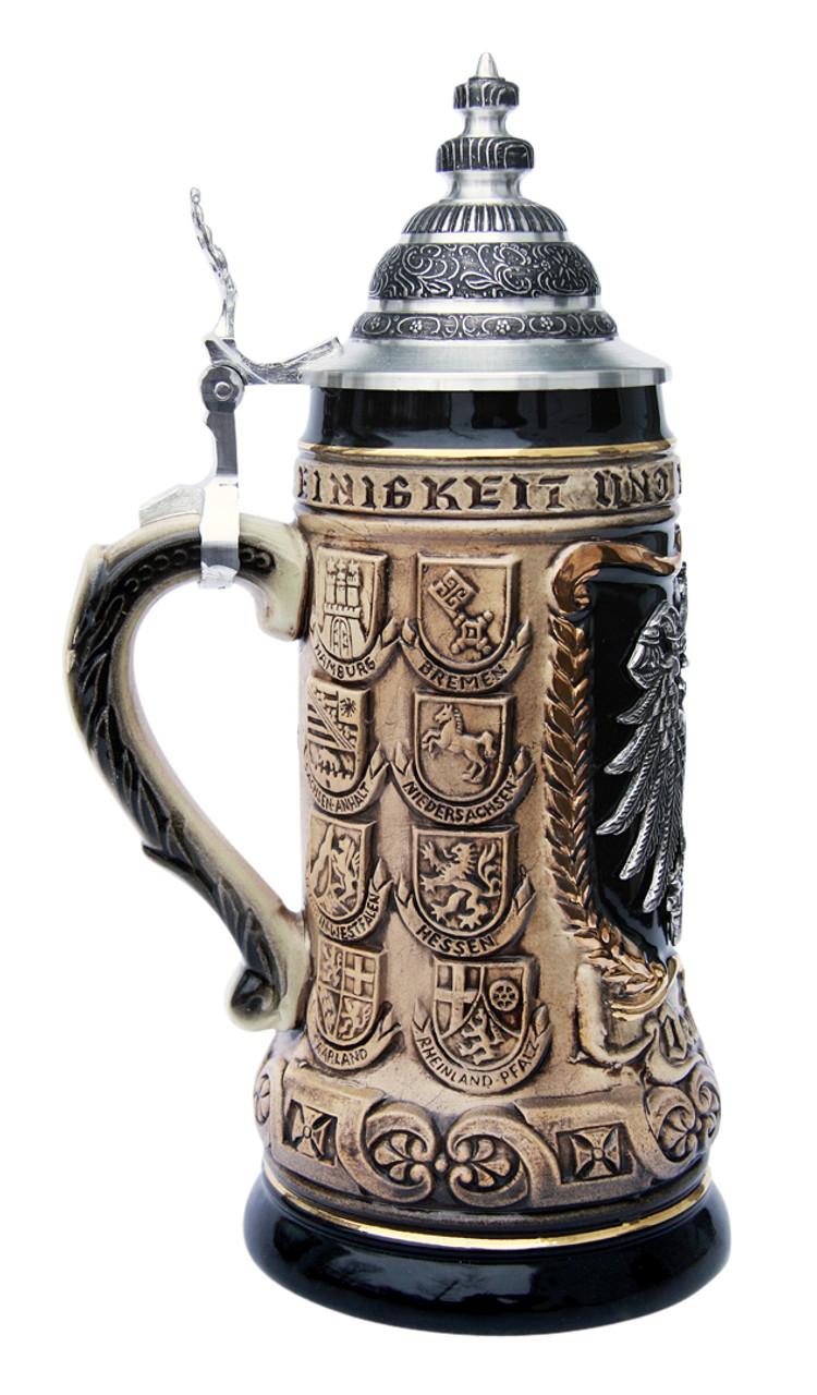 German Eagle Crests Beer Stein