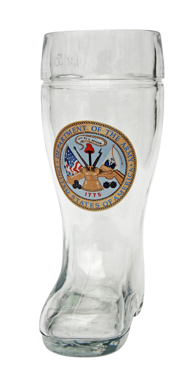 Personalized Authentic 0.5 Liter US Army Beer Boot