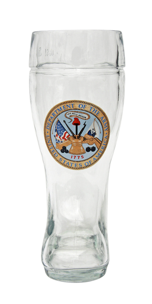 Engrave 0.5 Liter German Beer Boot with US Army Seal