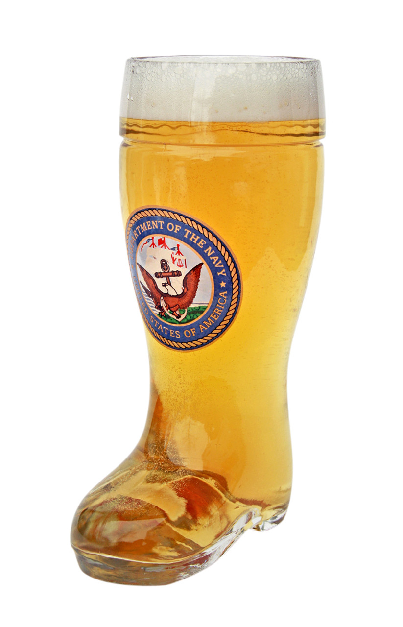 Authentic 0.5 liter German Beer Boot with US Navy Seal