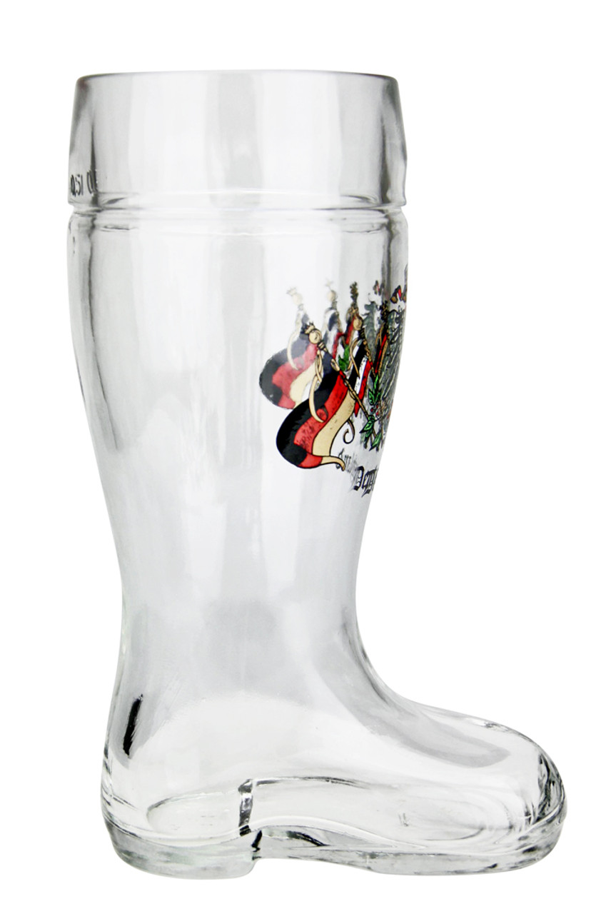 0.5 Liter Beer Boot with Traditional German Crest