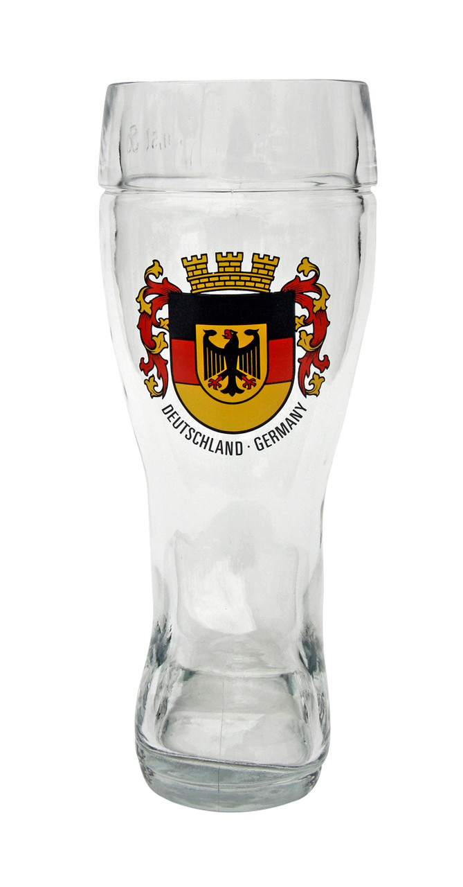 Traditional German Beer Boot with Deutschland Crest