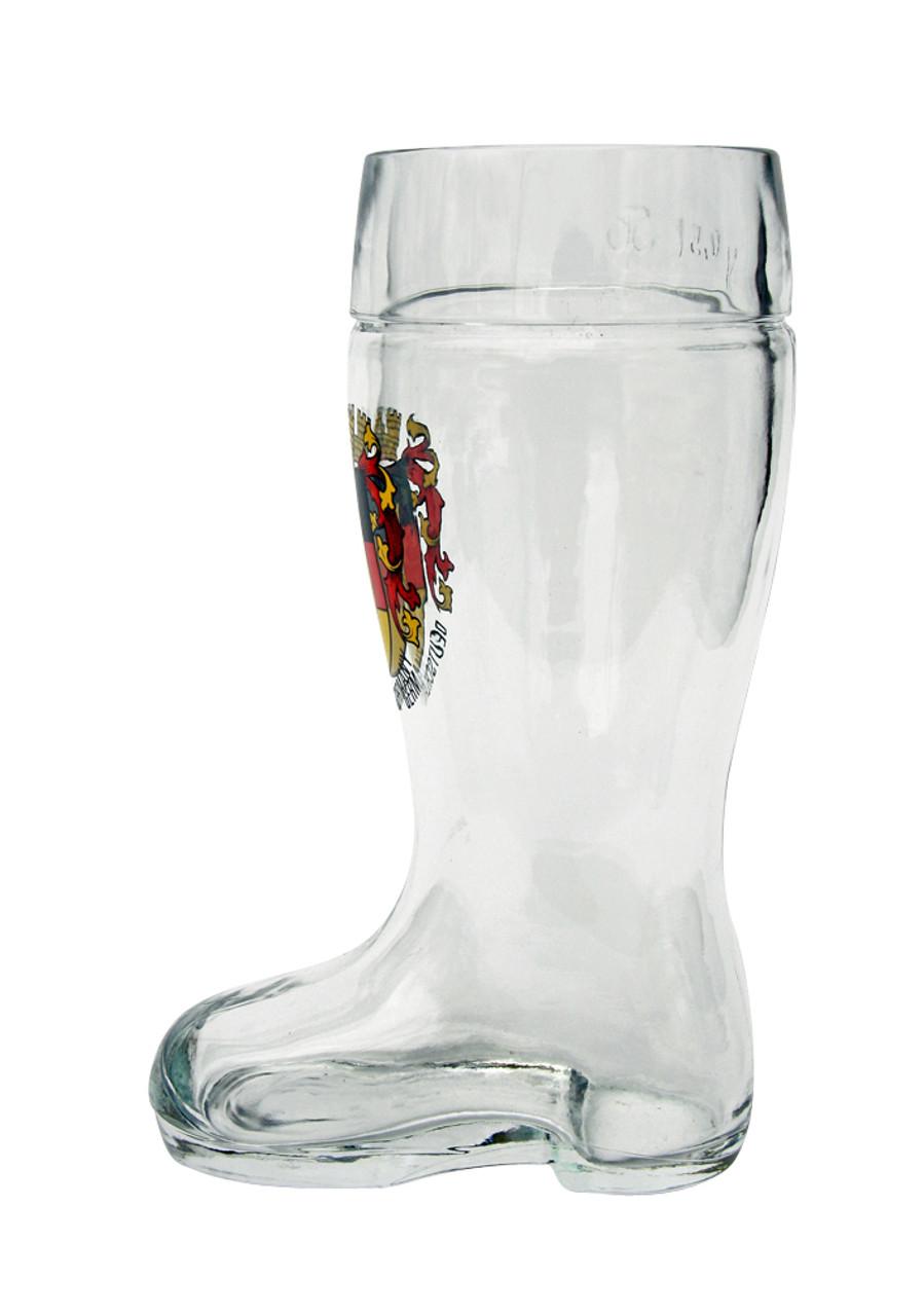 0.5 Liter Authentic Collectible German Beer Boot with Deutschland Crest