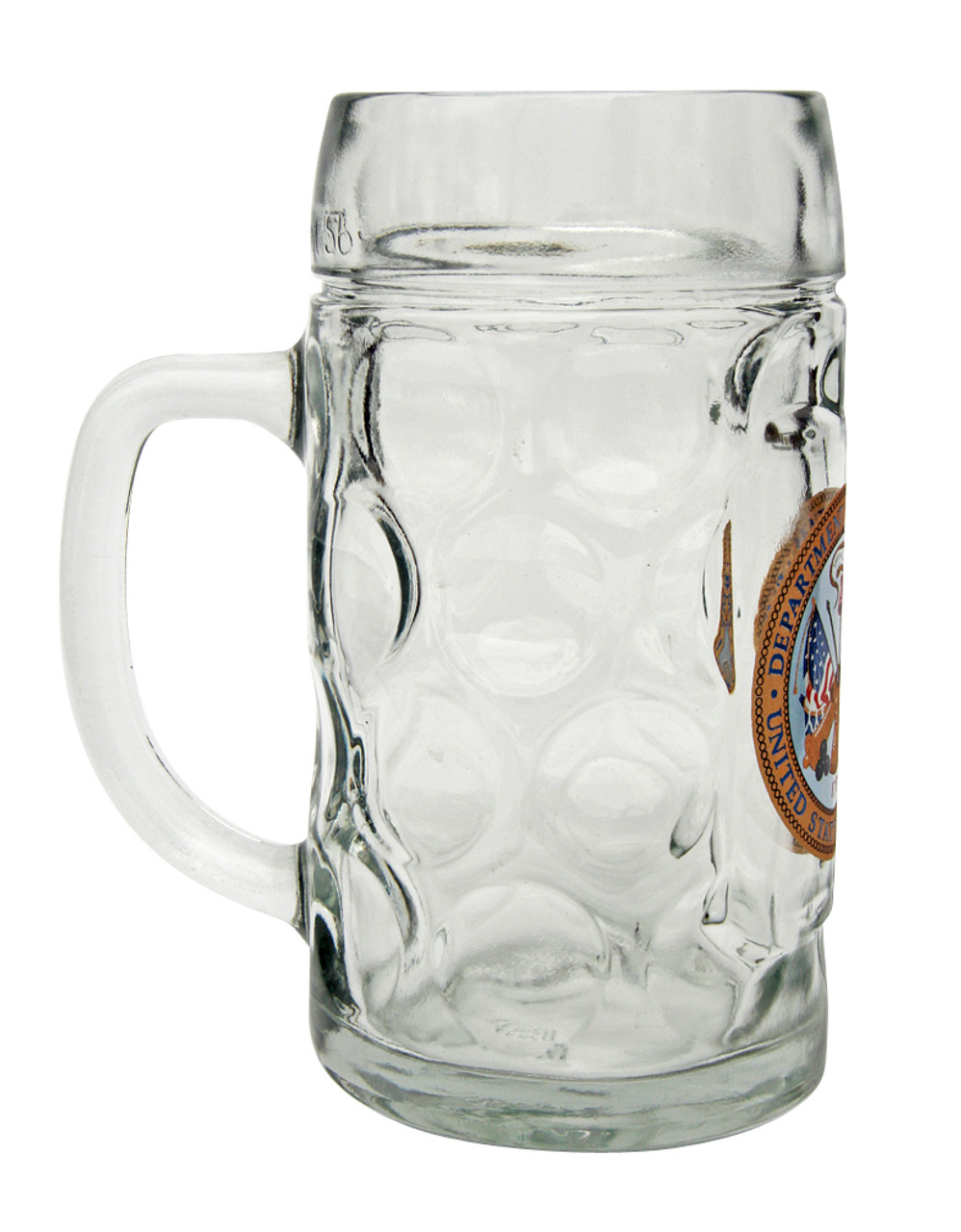 Side View of Personalized US Army Beer Mug