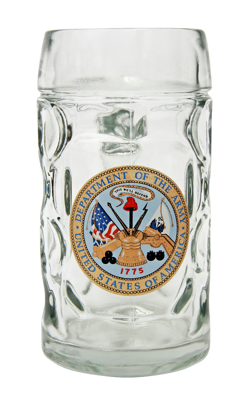 Custom Engraved 0.5 Liter US Army German Beer Mug