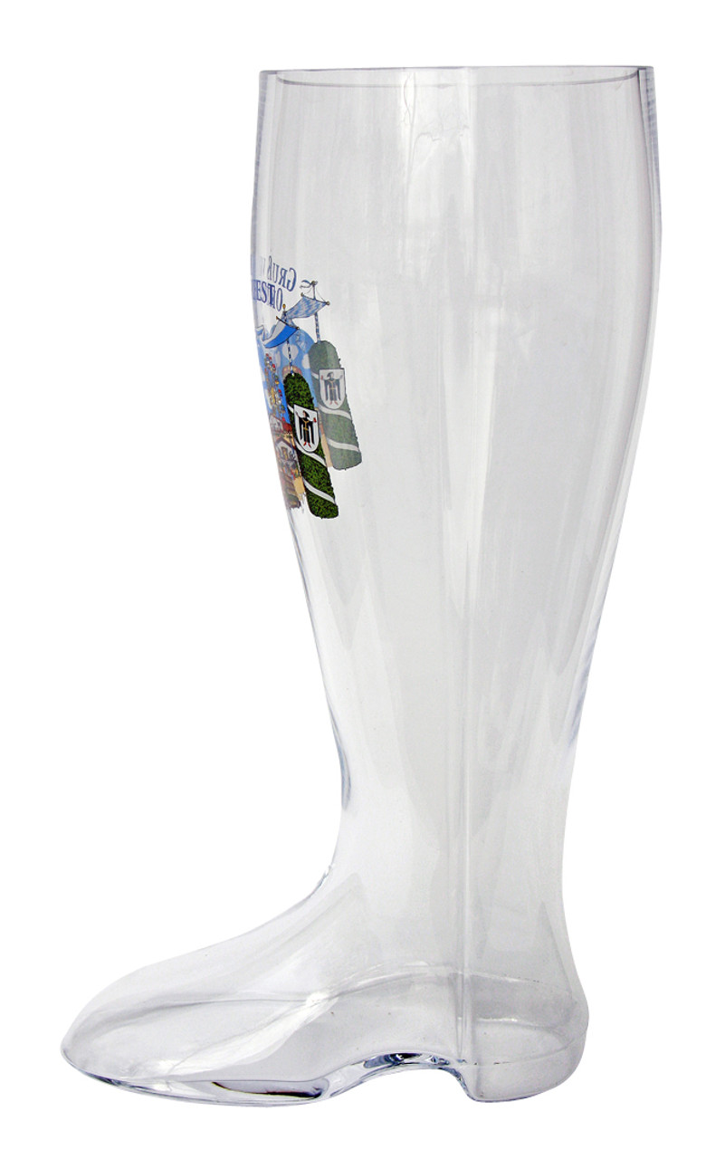 Collectible Oktoberfest beer boot side view
