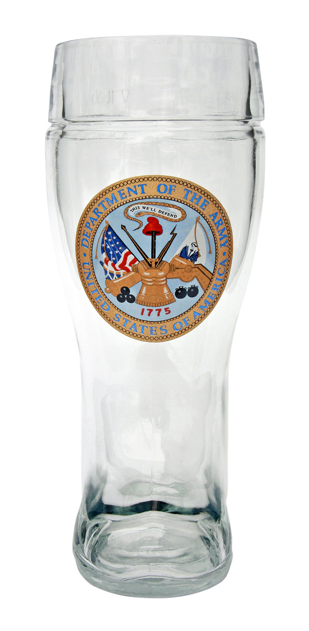 1 Liter Authentic German Beer Boot with US Army Seal