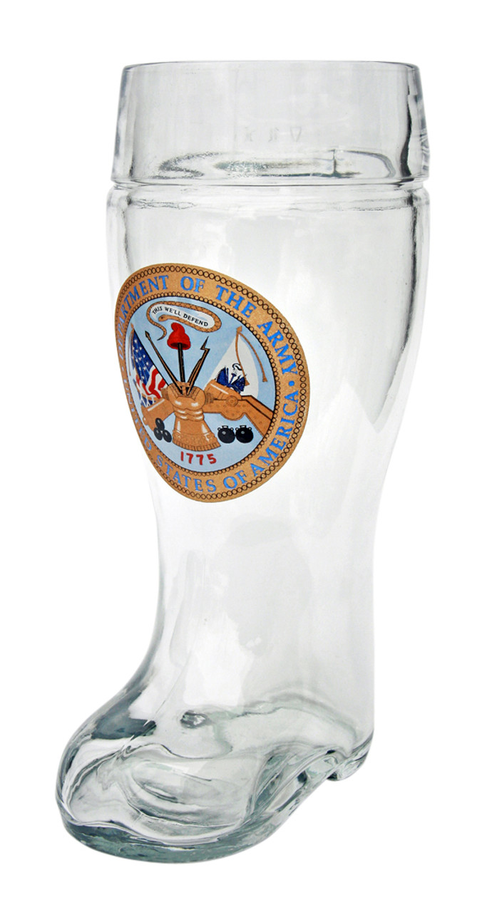 Custom Engraved 1 Liter US Army Beer Boot