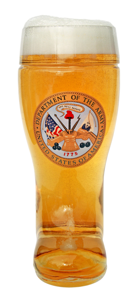 Front View of Traditional US Army Seal of German Beer Boot