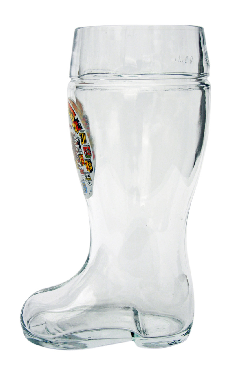 Side View of Traditional German Beer Boot