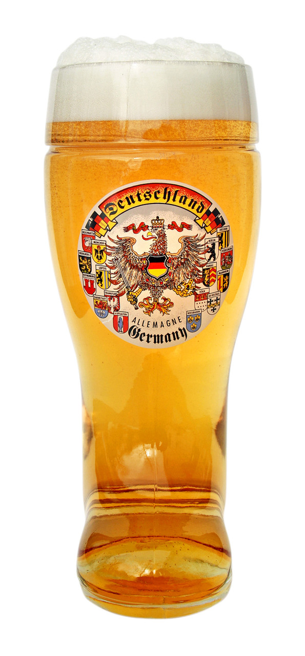 Front View of German Beer Boot with Eagle
