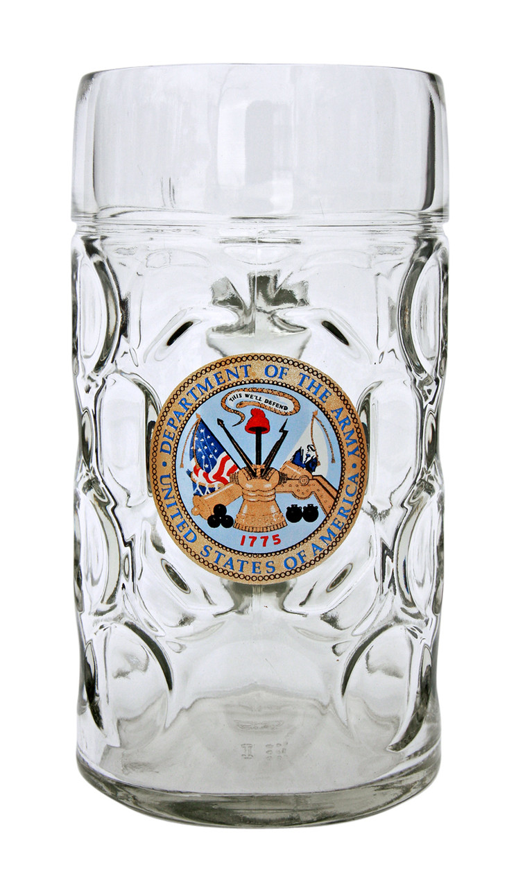 Traditional 1 Liter German Stein with US Army Seal
