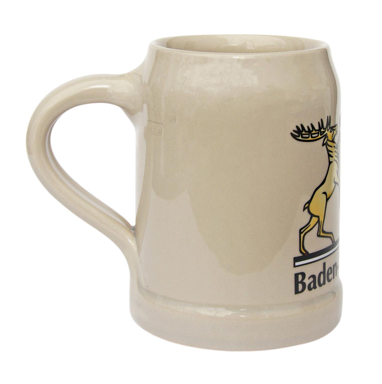 Baden Wuerttemberg Stoneware Beer Mug 0.5 Liter