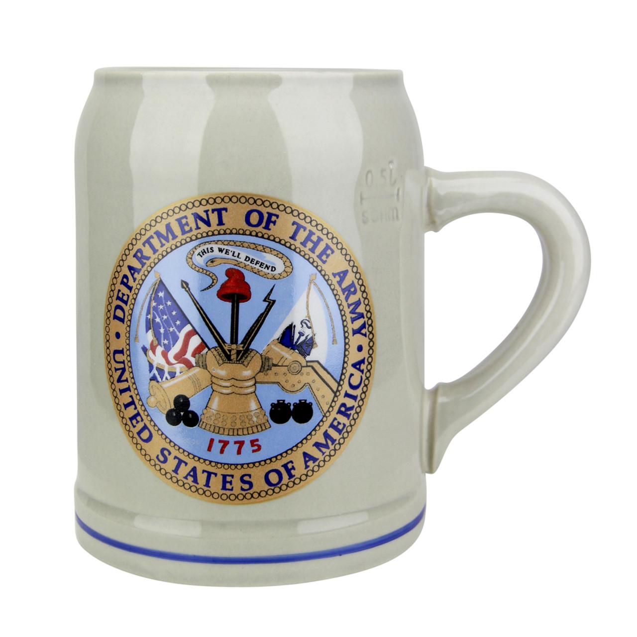 US Army Stoneware Beer Mug 0.5 Liter