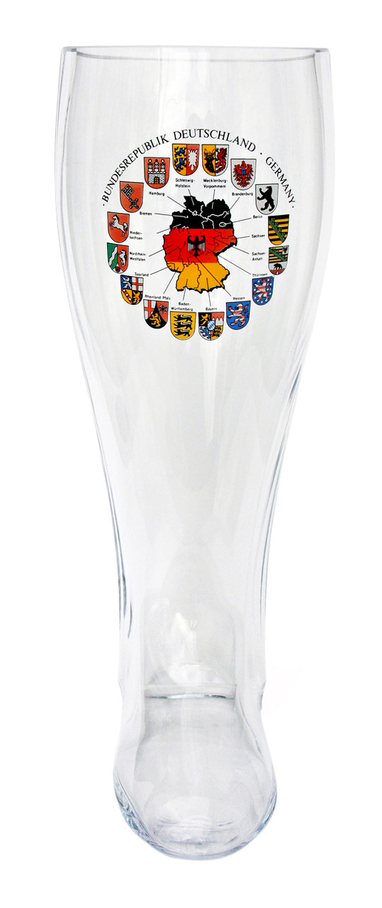 Deutschland Map Glass Beer Boot 2 Liter