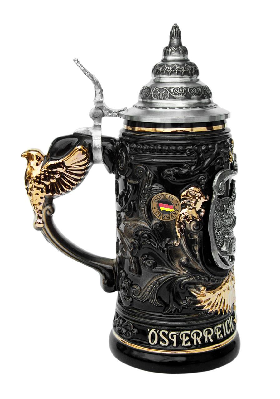 Salzburg Eagle Handle Beer Stein 0.4 Liter