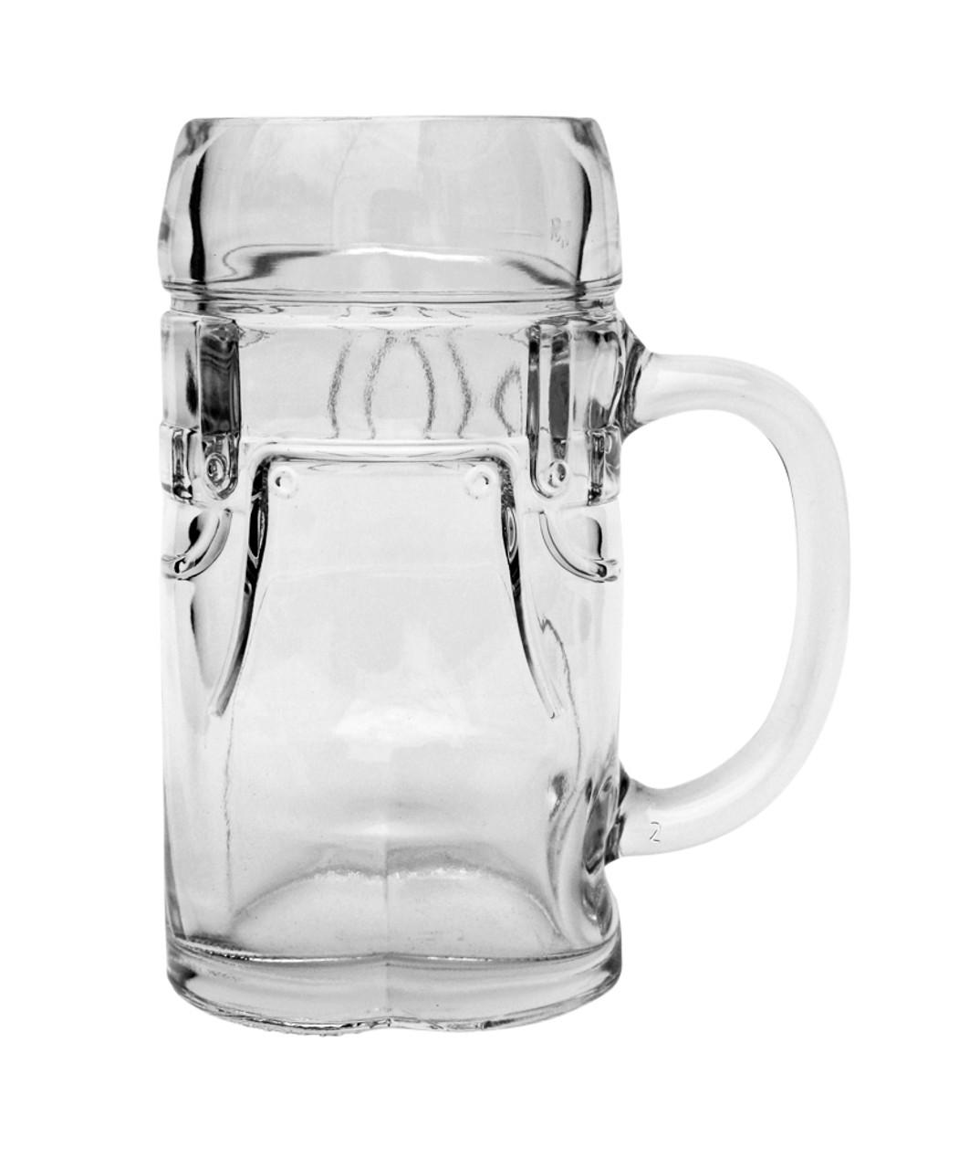 Empty Half Liter Lederhosen Beer Mug Front View