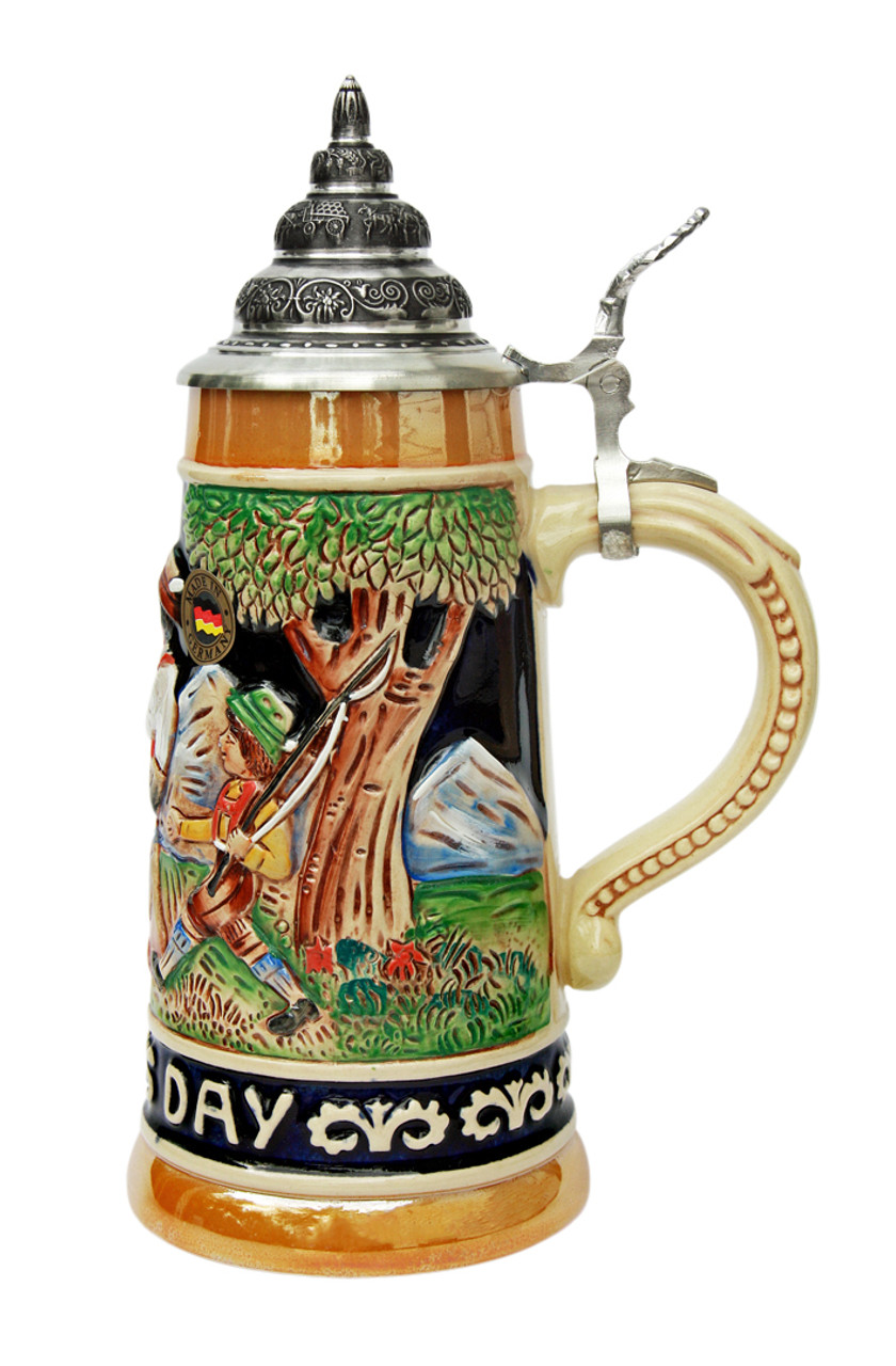 Traditional Hand-Painted Father's Day German Beer Stein