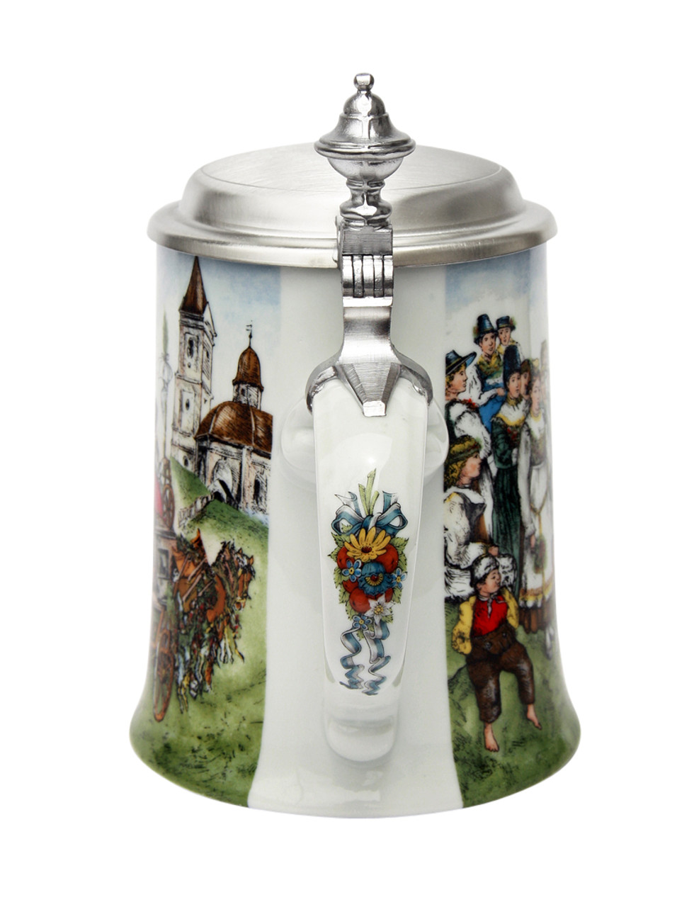 Traditional Porcelain Beer Stein for Weddings