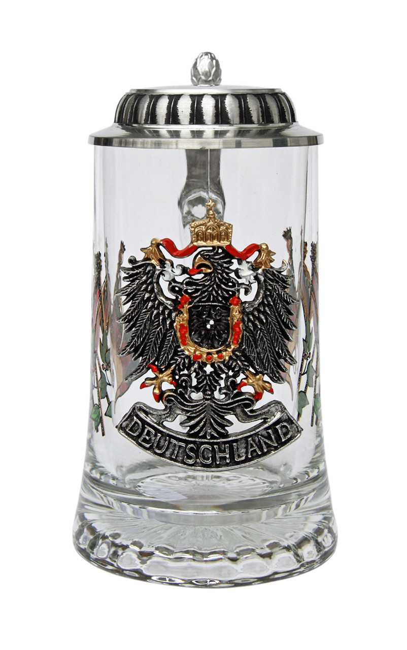 Authentic Deutschland Pewter Eagle Beer Stein