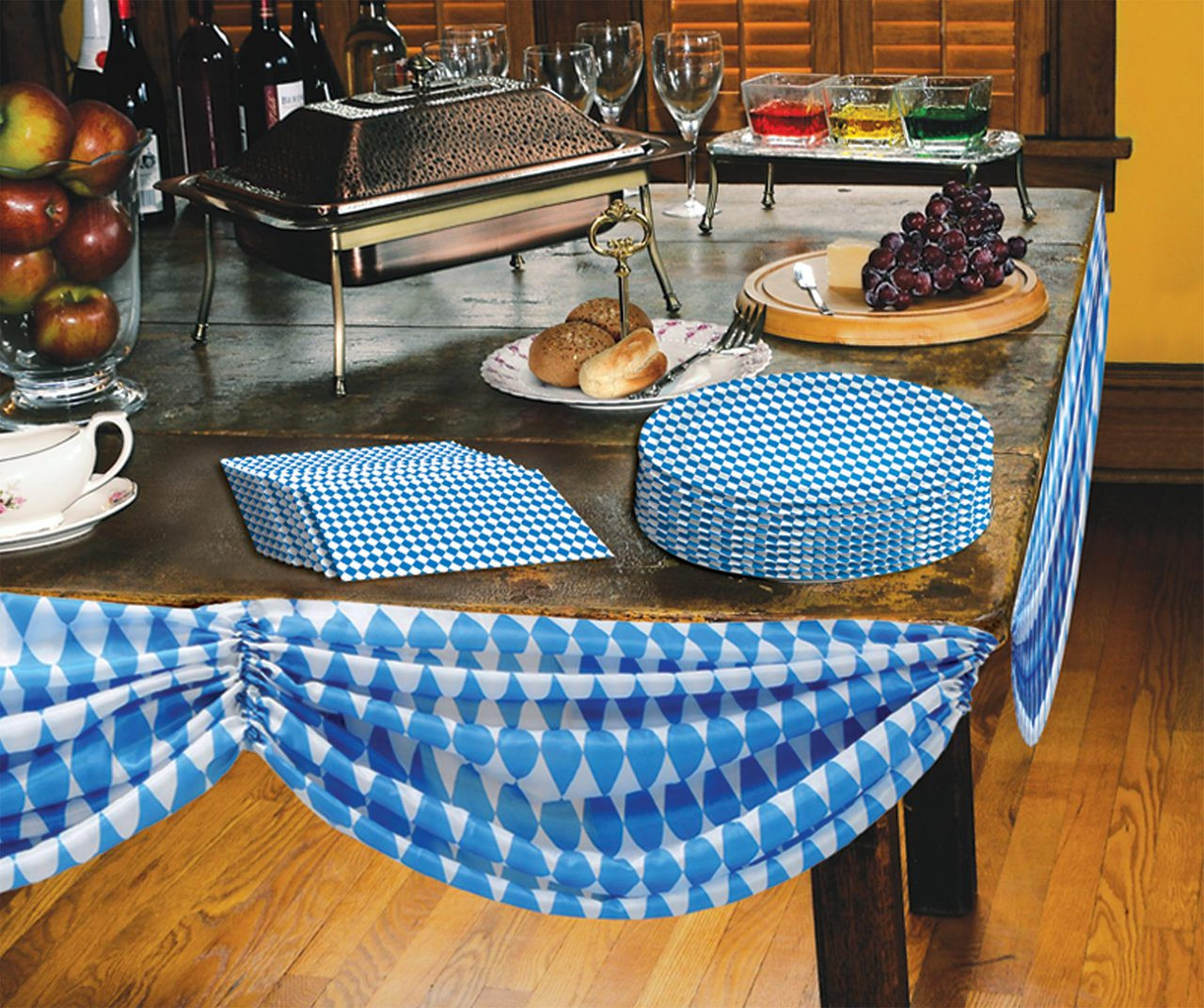 Oktoberfest Bavarian Flag Fabric Bunting