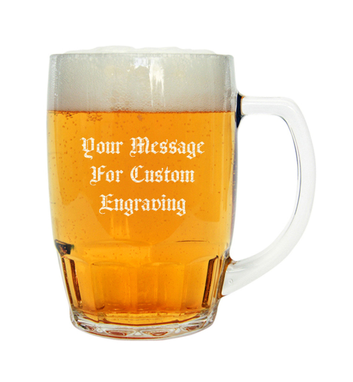 German Beer Cup with Custom Engraving