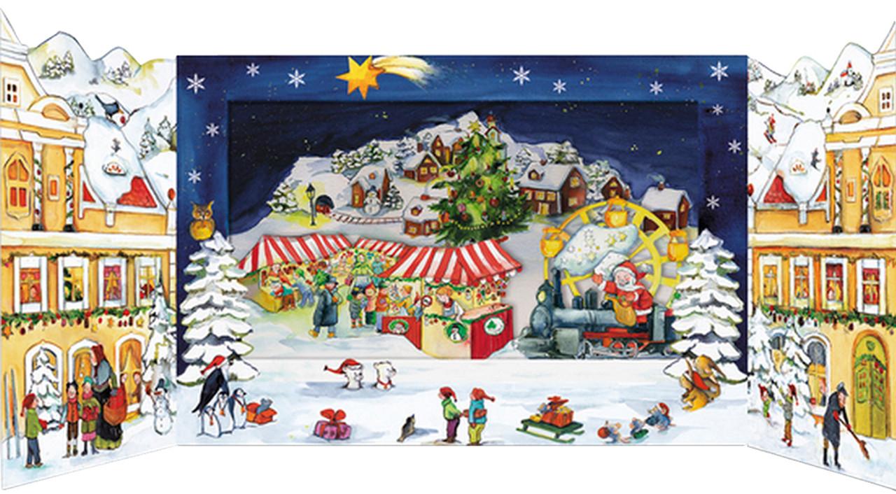 Christmas Market 3D German Advent Calendar