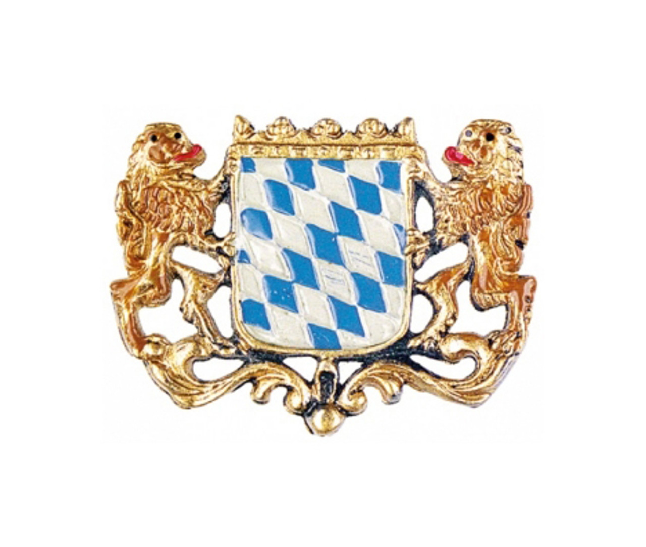 Bavarian Lion Crest German Pewter Pin