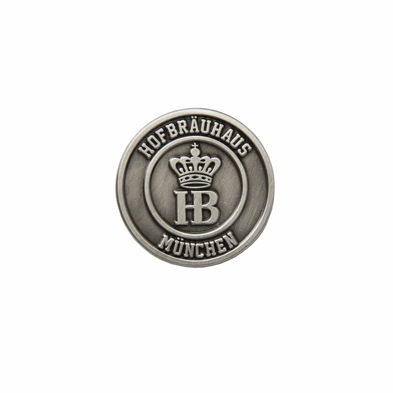 Hofbrauhaus HB Coin Medallion Hat Pin