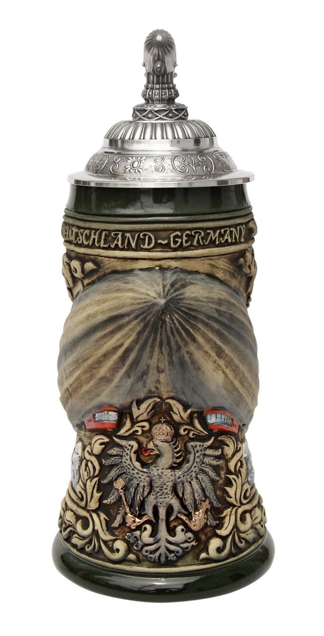 Zeppelin 3D Beer Stein Rustic