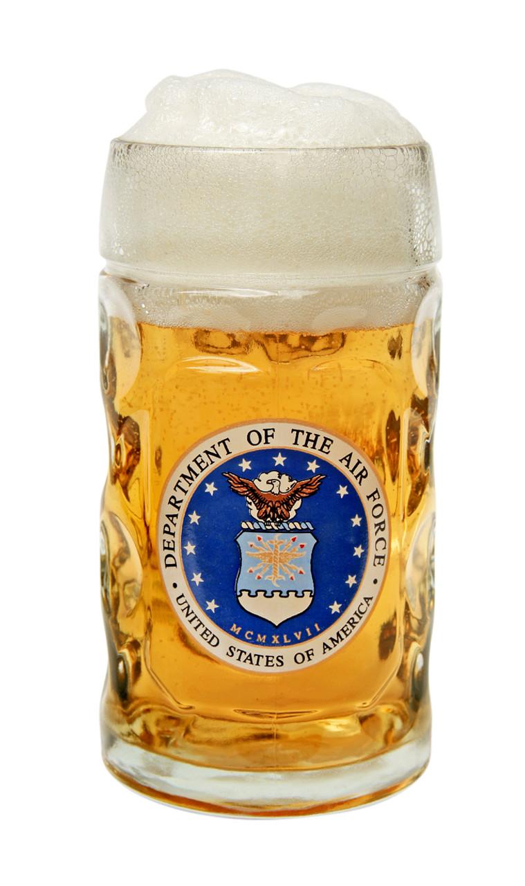 Authentic 0.5 Liter Oktoberfest Beer Mug with USAF Seal