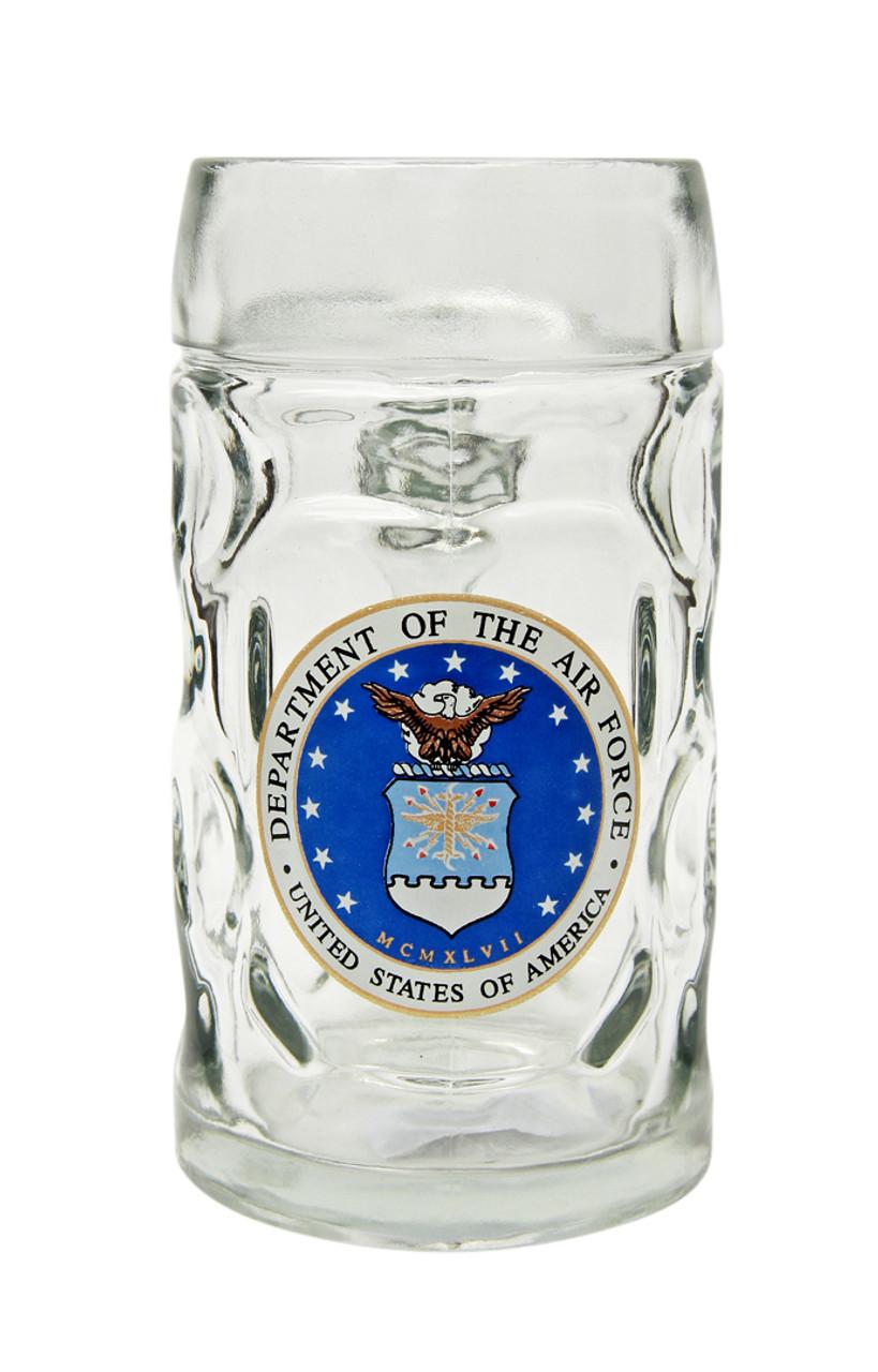 Traditional 0.5 Liter Beer Mug with USAF Seal