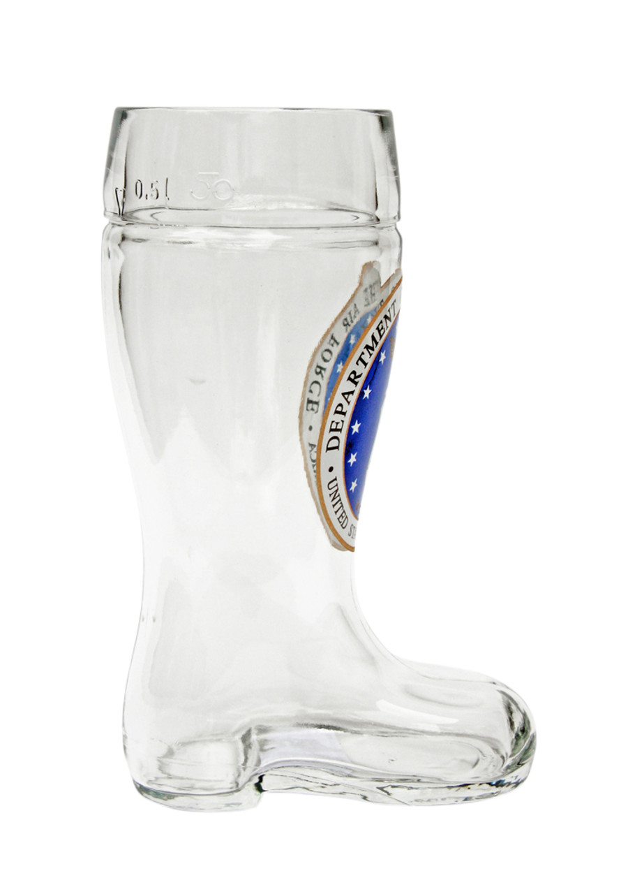 Personalized Beer Boot with Military Seal