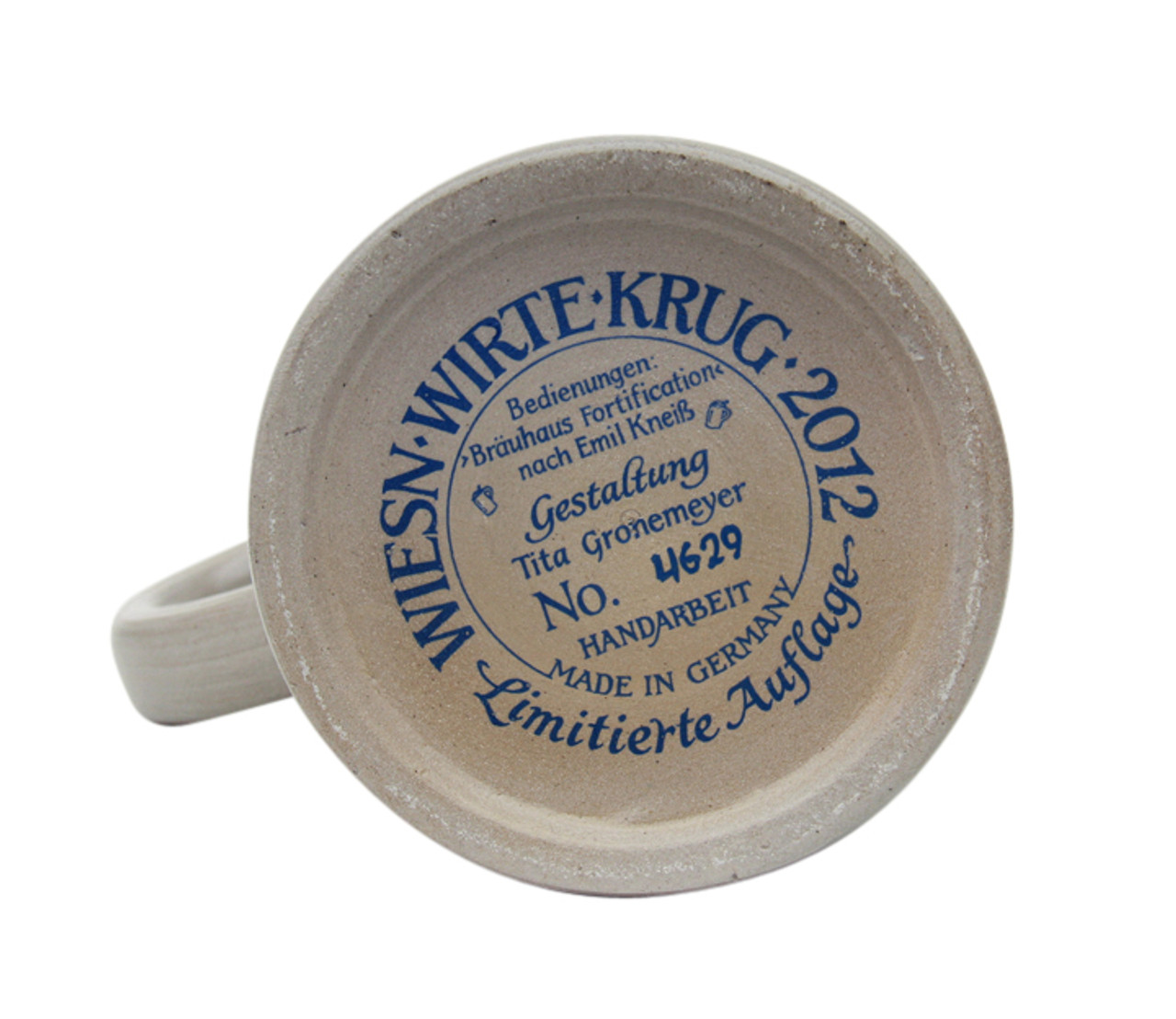 Bottom of Oktoberfest Wirtekrug Beer Mug.