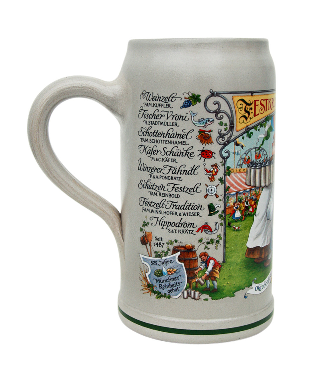 Traditional Oktoberfest Ceramic Beer Mug