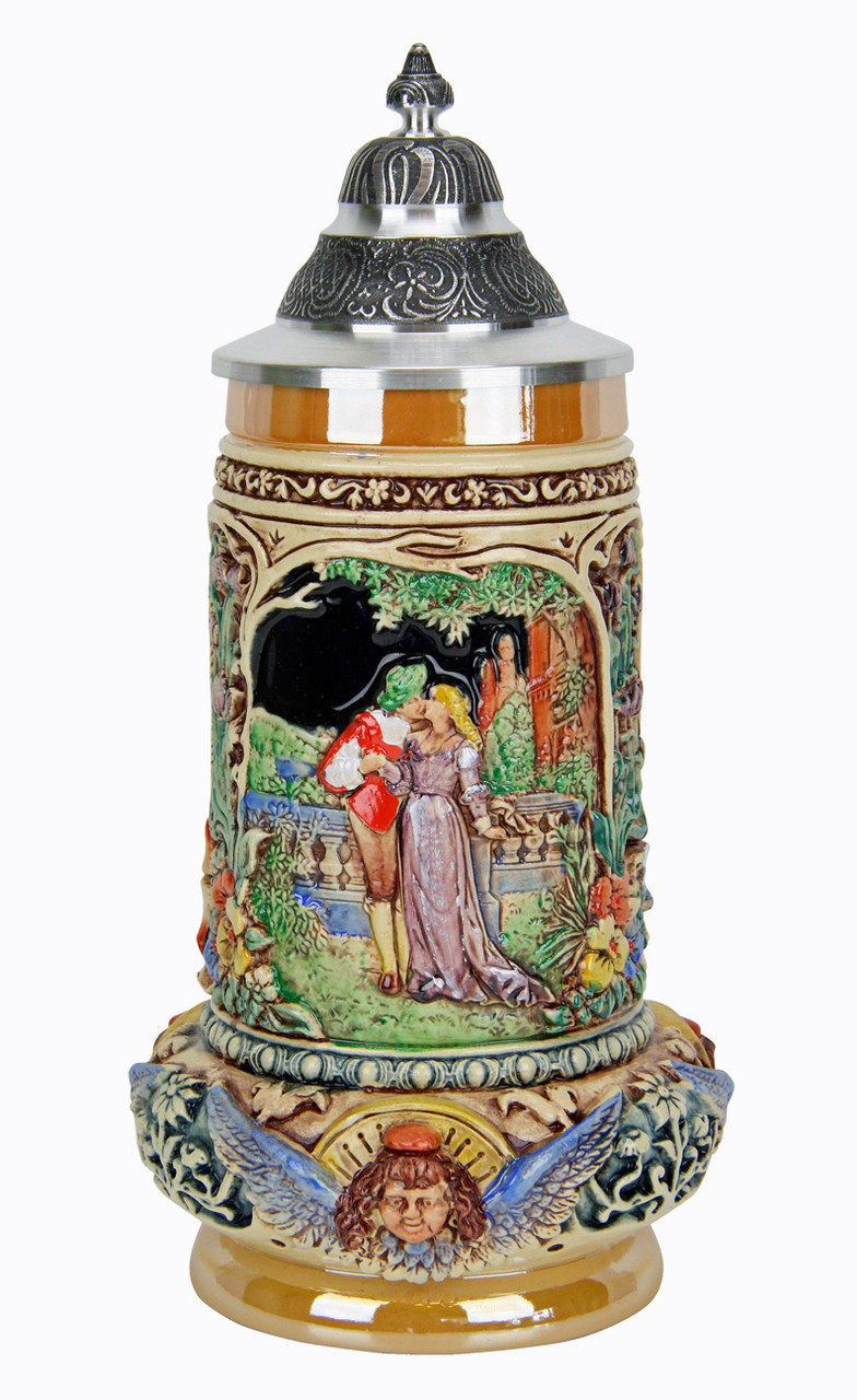 Wedding Beer Stein with Pewter Lid