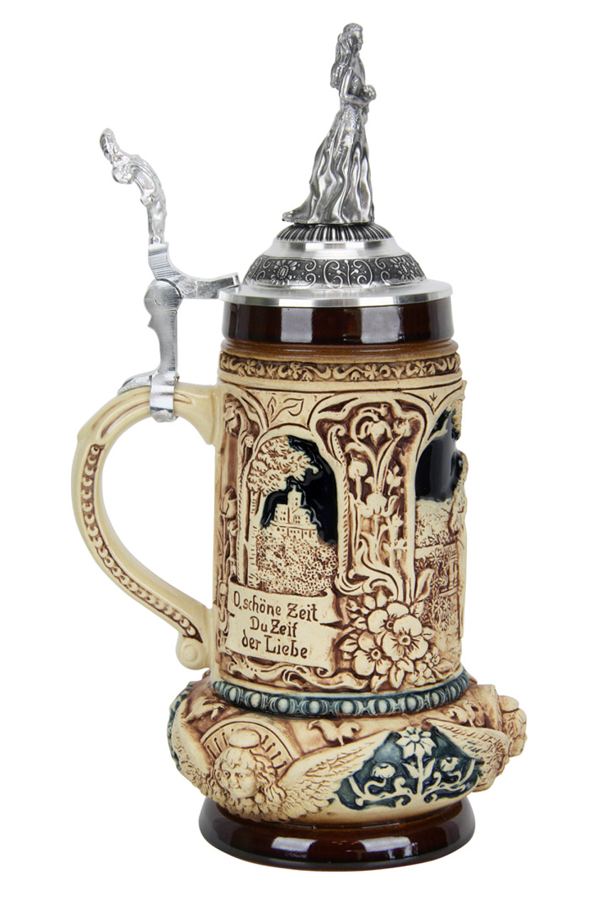 Wedding Beer Stein with Lid for Groomsmen or Bridal Party