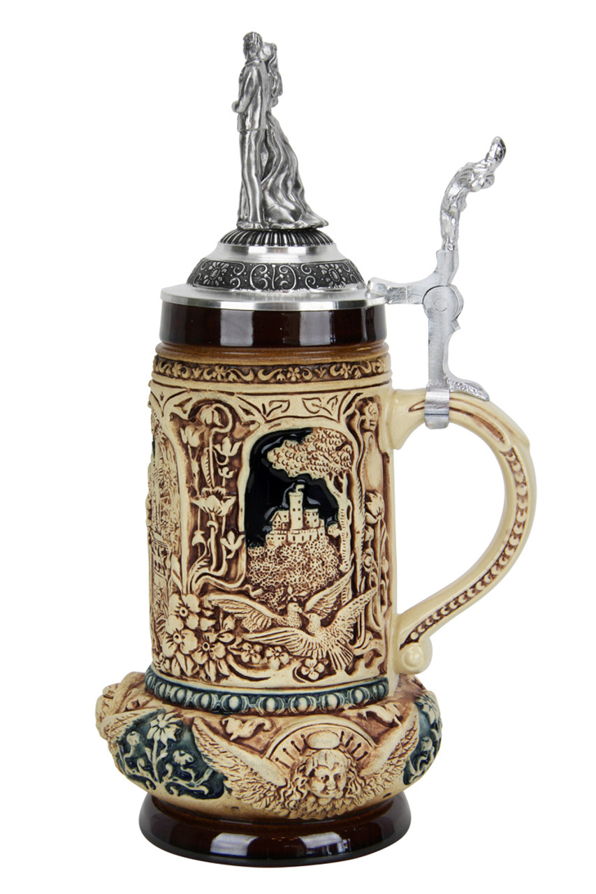 Authentic King Werk Wedding Beer Stein for Sale
