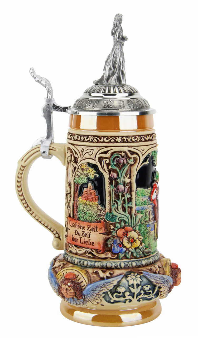 Authentic German Wedding Beer Stein with Lid