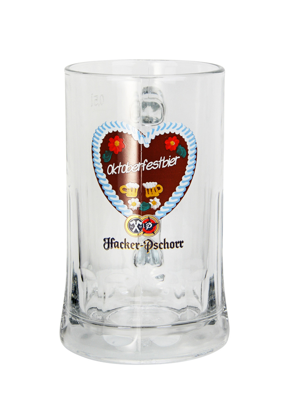 Hacker Pschorr Oktoberfest Glass Beer Mug
